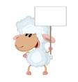 lamb with a sign vector image vector image