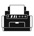 laser printer icon simple style vector image vector image