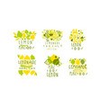 lemonade labels or logos original design vector image vector image