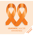 leukemia cancer ribbon vector image vector image