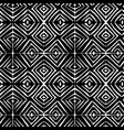 linocut rhombus black seamless pattern vector image