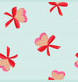 lollipop with bow sweet teen pattern back vector image