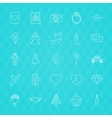 Love Romance Line Icons vector image vector image