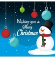 Merry christmas card design vector image vector image