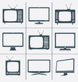 modern and retro tv icons vector image vector image