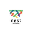 nest logo design symbol vector image