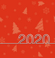 new years date 2020 vector image vector image