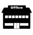 Office icon in trendy flat style on white vector image