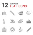 pictograph icons vector image vector image