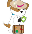 Puppy Travel vector image vector image