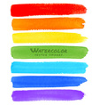 Rainbow Watercolor Brush Smears vector image vector image