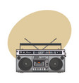 retro style audio tape recorder ghetto boom box vector image vector image