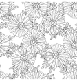 Seamless aster pattern vector image vector image