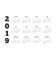 Simple calendar on 2019 year in french language vector image vector image