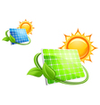 Solar panels and batteries vector image
