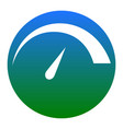 speedometer sign white icon vector image
