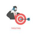 target customers concept target customers concept vector image vector image