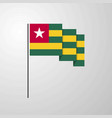 togo waving flag creative background vector image vector image