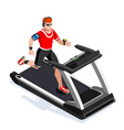 Treadmill Gym Class Working Out Isometric Image vector image vector image