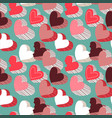 valentines day pink candy heart seamless pattern vector image vector image