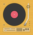 vintage vinyl player vector image