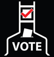 voting icon vector image