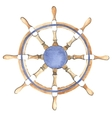 Watercolor ship steering wheel vector image