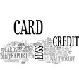 what if i lose my credit card text word cloud vector image vector image