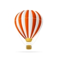 white and red hot air ballon isolated vector image
