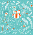 winter floral seamless pattern vector image