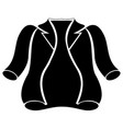 winter jacket silhouette vector image vector image
