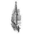 york minster buttress pinnacle walls vintage vector image vector image