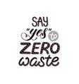 zero waste poster vector image vector image