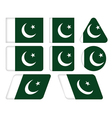 buttons with flag of Pakistan vector image