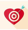 Heart target with arrow vector image