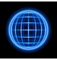 Modern wire light sphere vector image