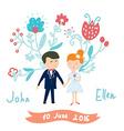 Wedding invitation funny card vector image