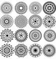 a set of beautiful mandalas and lace circles vector image vector image