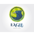 Abstract eagle logo template for branding vector image