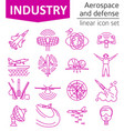 aerospace and defense military aircraft icon set vector image