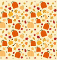 autumn seamless pattern background yellow oak vector image vector image