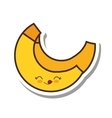 banana fresh fruit kawaii style isolated icon