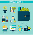 banking money financial services set credit sign vector image vector image