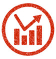 bar chart trend rounded grainy icon vector image vector image