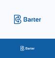 Barter B logo vector image vector image