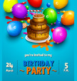 birthday party invitation card party balloons vector image