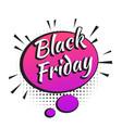 black friday banner vector image