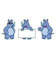Blue Rhino Mascot happy vector image