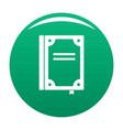 book publication icon green vector image vector image