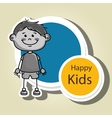 boy kids happy icon vector image vector image